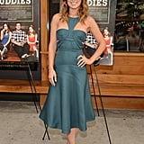 There's nothing Brooklyn about the pretty dress and Louboutins Olivia Wilde chose for a Drinking Buddies screening in the downtown borough.