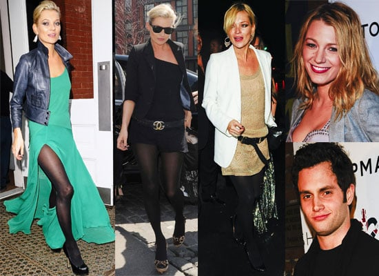 Photos Of Kate Moss At Topshop Launch And Party In New York with Blake Lively and Penn Badgely