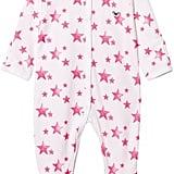 Livly Hot Pink Stars Simplicity Footie Babygrow ($47)