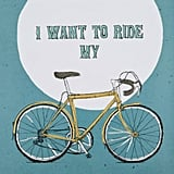 ملصق Edelvik – مكتوب عليه I want to ride my bike Poster (أريد أن أركب درّاجتي)