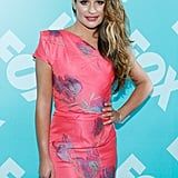 Lea Michele went for a one-shoulder look.