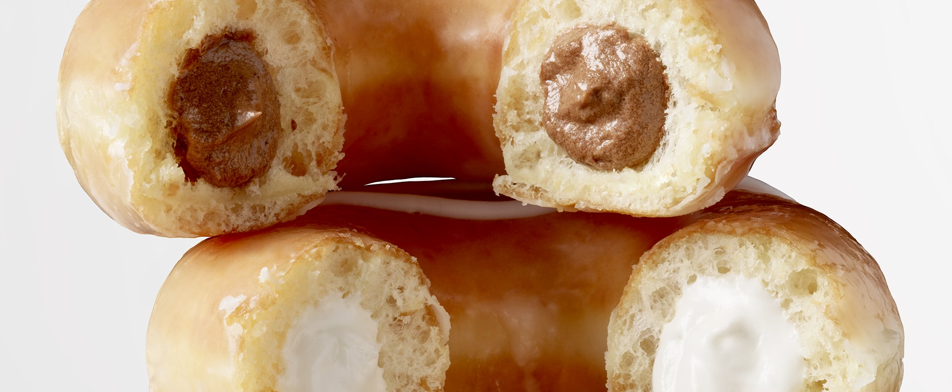 Krispy Kreme Glazed Cream-Filled Doughnuts 2019