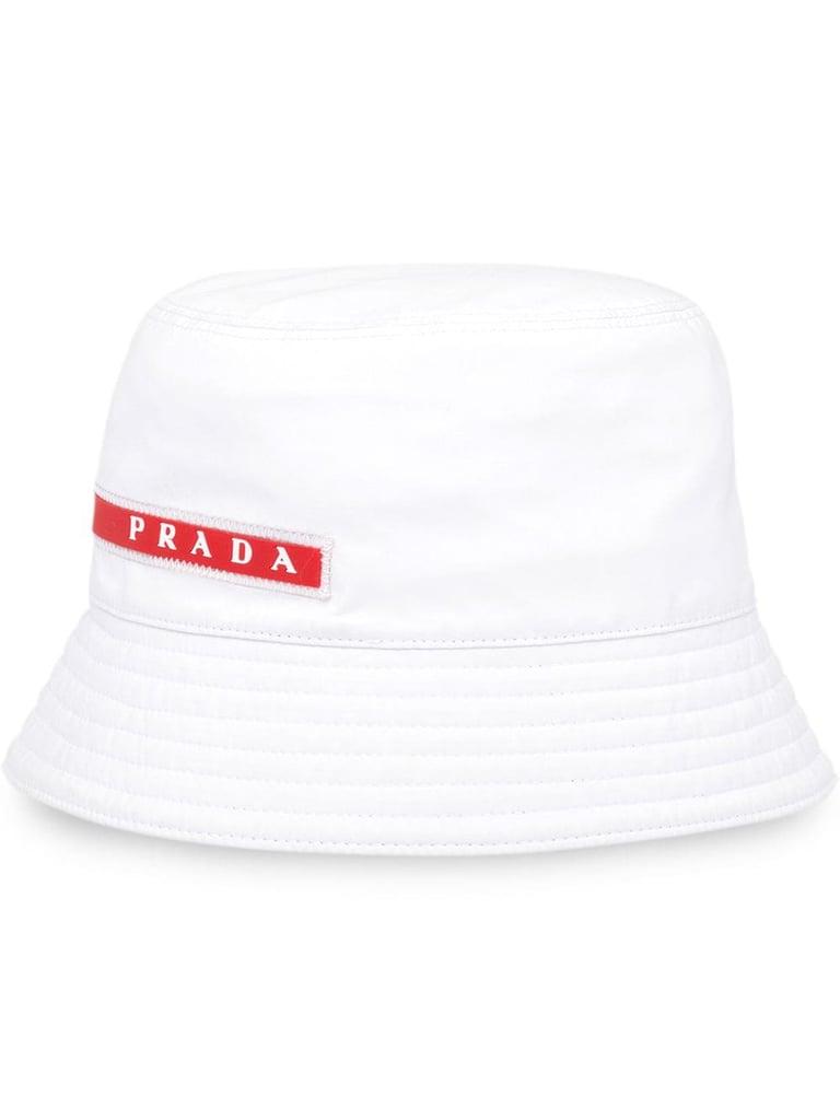 Prada Linea Rossa logo stripe bucket hat