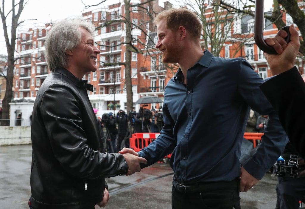 Prince Harry and Jon Bon Jovi Record at Abbey Road Studios