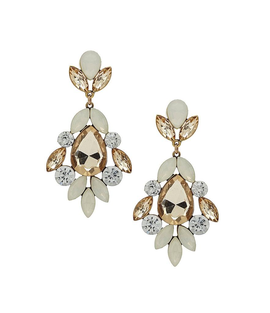 Natasha Large Crystal Statement Earrings | Statement Earrings ...