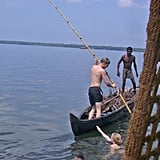 Garfors says this onlooker in Kerala, India, was anything but impressed by his boating skills.