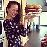 Chrissy Teigen showed off her latest kitchen creation. Source: Instagram user chrissyteigen