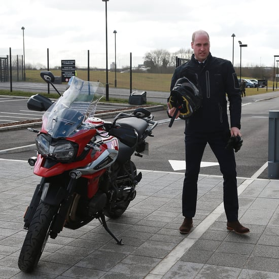 Prince William Riding a Motorcycle February 2018