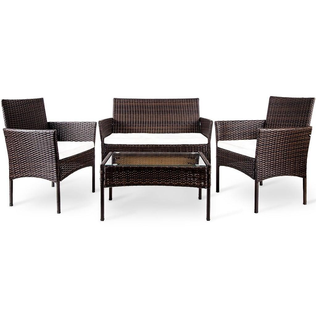 Merax outdoor garden rattan patio furniture set