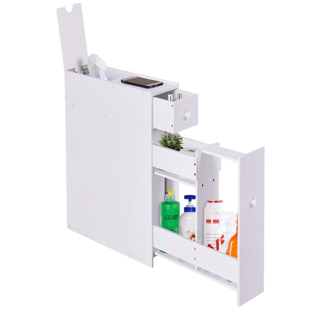 Tangkula Bathroom Storage Floor Cabinet