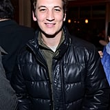 Miles Teller bundled up in a down jacket on Saturday.