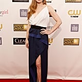 Amy Adams wore a black-and-white dress to the Critics' Choice Awards.