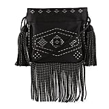 Saint Laurent Monogram Studded Fringe Bucket Bag ($1,650)