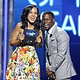 Kerry Washington and Kevin Hart joked around at the BET Awards on Sunday in LA.