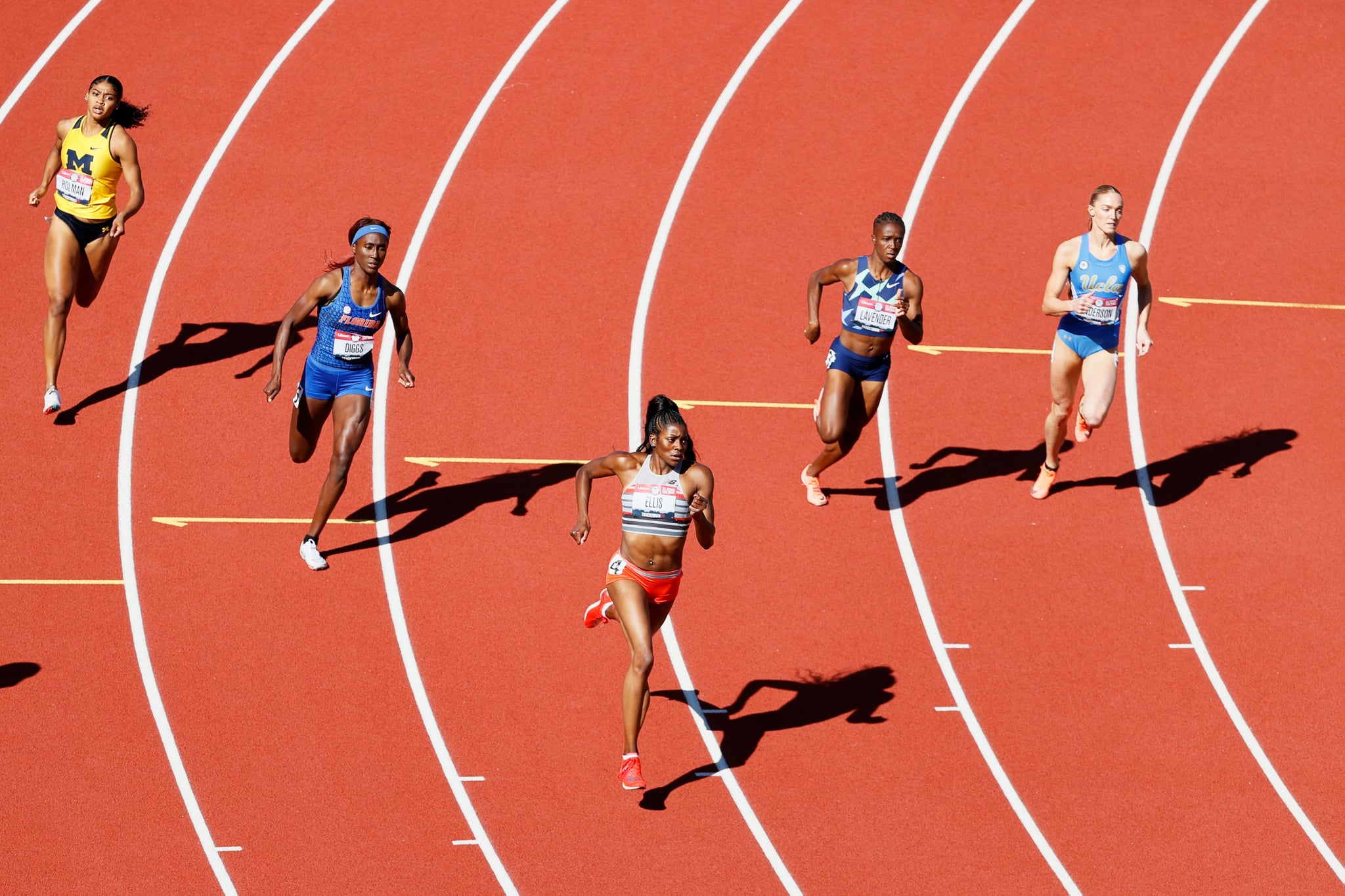 EUGENE, OREGON - JUNE 18: Kendall Ellis competes in the first round of the Women's 400 Meter during day one of the 2020 U.S. Olympic Track & Field Team Trials at Hayward Field on June 18, 2021 in Eugene, Oregon. (Photo by Steph Chambers/Getty Images)