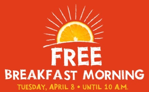 Jamba Juice to Give Away Free Breakfast Products