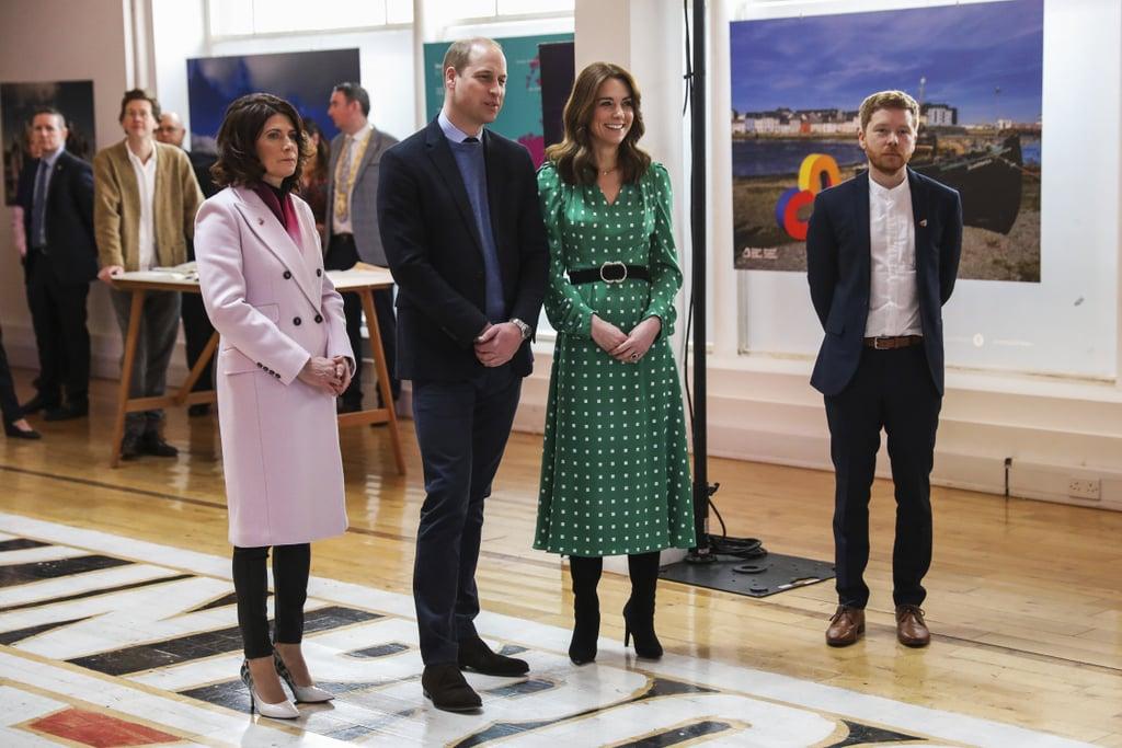 Kate Middleton's Green Suzannah Polka-Dot Dress and Belt