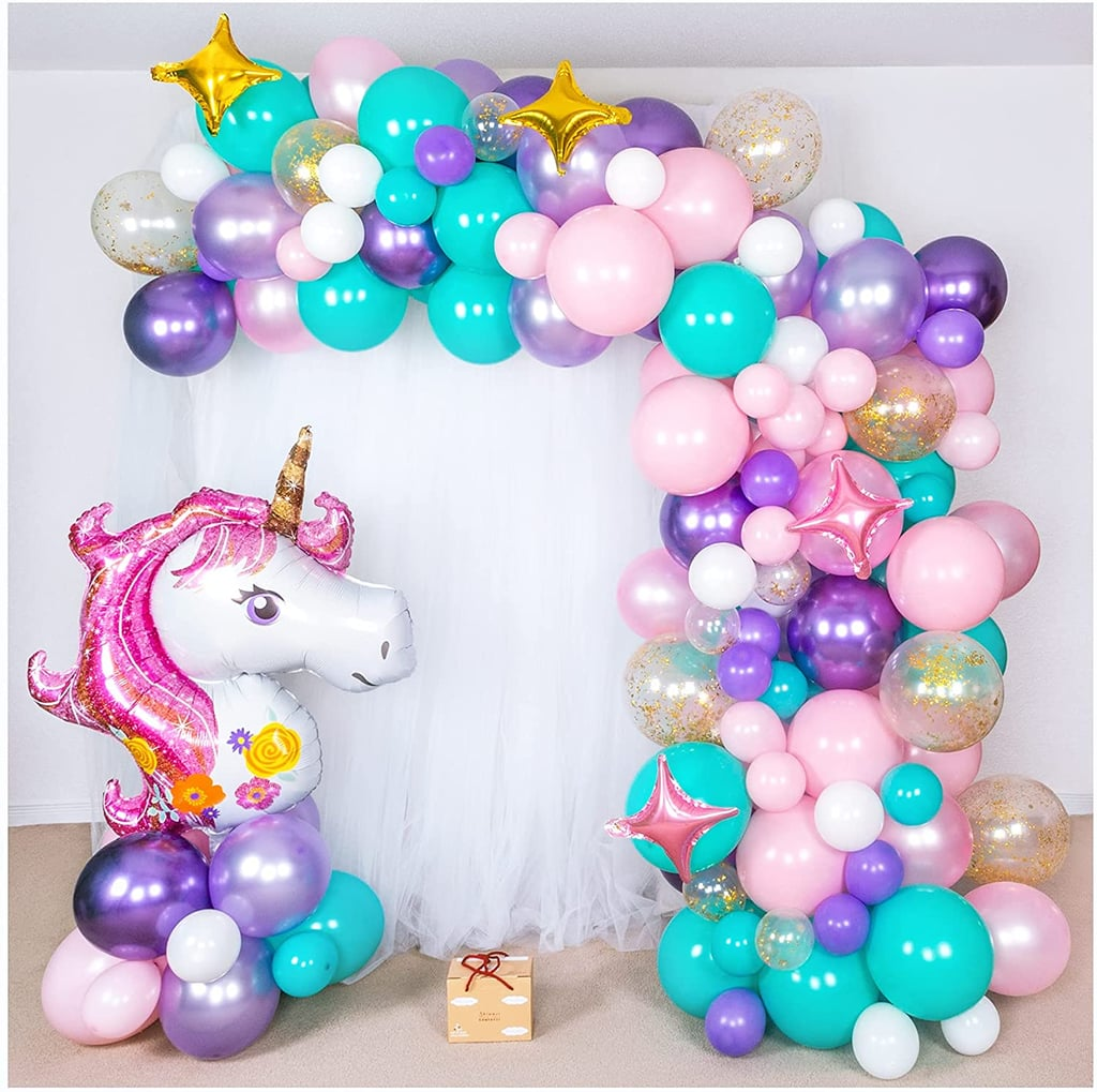 Shimmer and Confetti Premium 16-foot DIY Unicorn Balloon Arch and Garland Kit