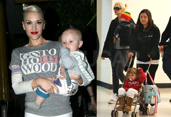 Photos of Gwen Stefani, Kingston Rossdale, Zuma Rossdale at JFK