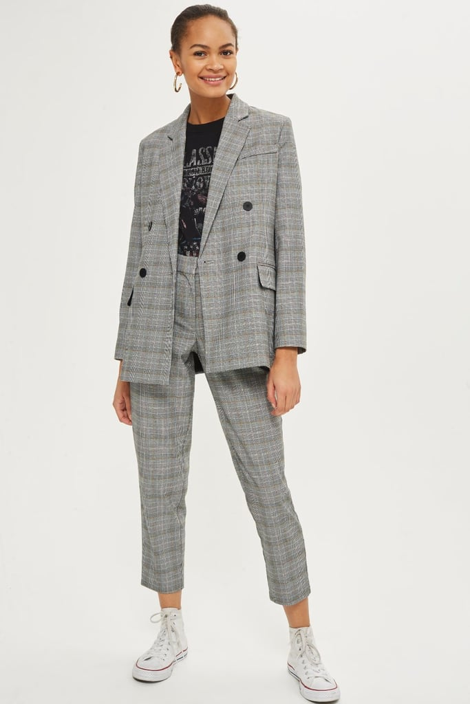 Checked Double Breasted Jacket ($113.77 approx.)