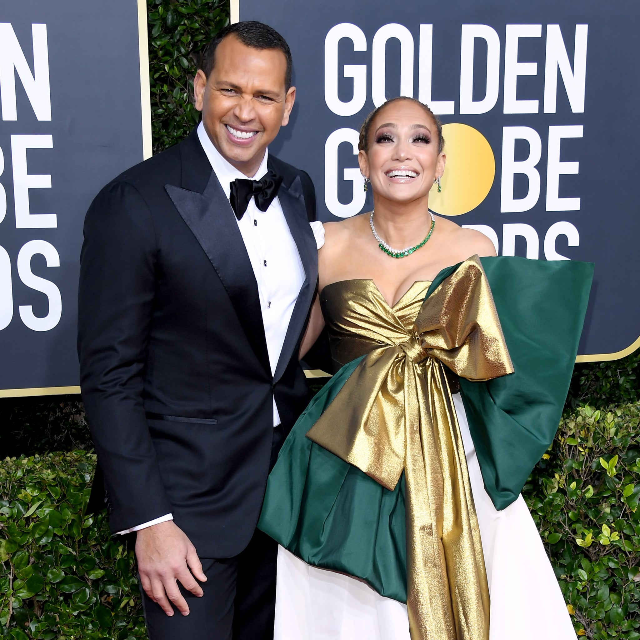 BEVERLY HILLS, CALIFORNIA - JANUARY 05: (L-R) Alex Rodriguez and Jennifer Lopez attend the 77th Annual Golden Globe Awards at The Beverly Hilton Hotel on January 05, 2020 in Beverly Hills, California. (Photo by Daniele Venturelli/WireImage)