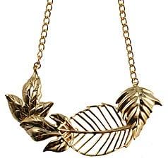 Glitterati: Oliver Bonas Leaf Necklace