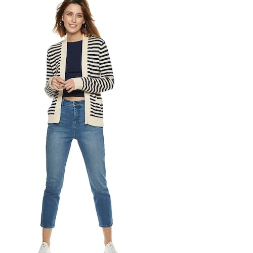 63655e6bcc3 POPSUGAR at Kohl's collection Striped Cardigan | Best Cheap Sweaters ...