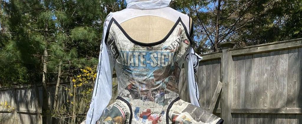 TikTok Designer's Newspaper Dress For Met Gala | Photos