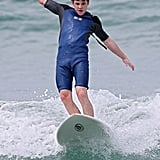 Nolan Gould went surfing at Bondi Beach on Feb. 18.