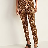 Old Navy Mid-Rise Printed Pixie Ankle Pants