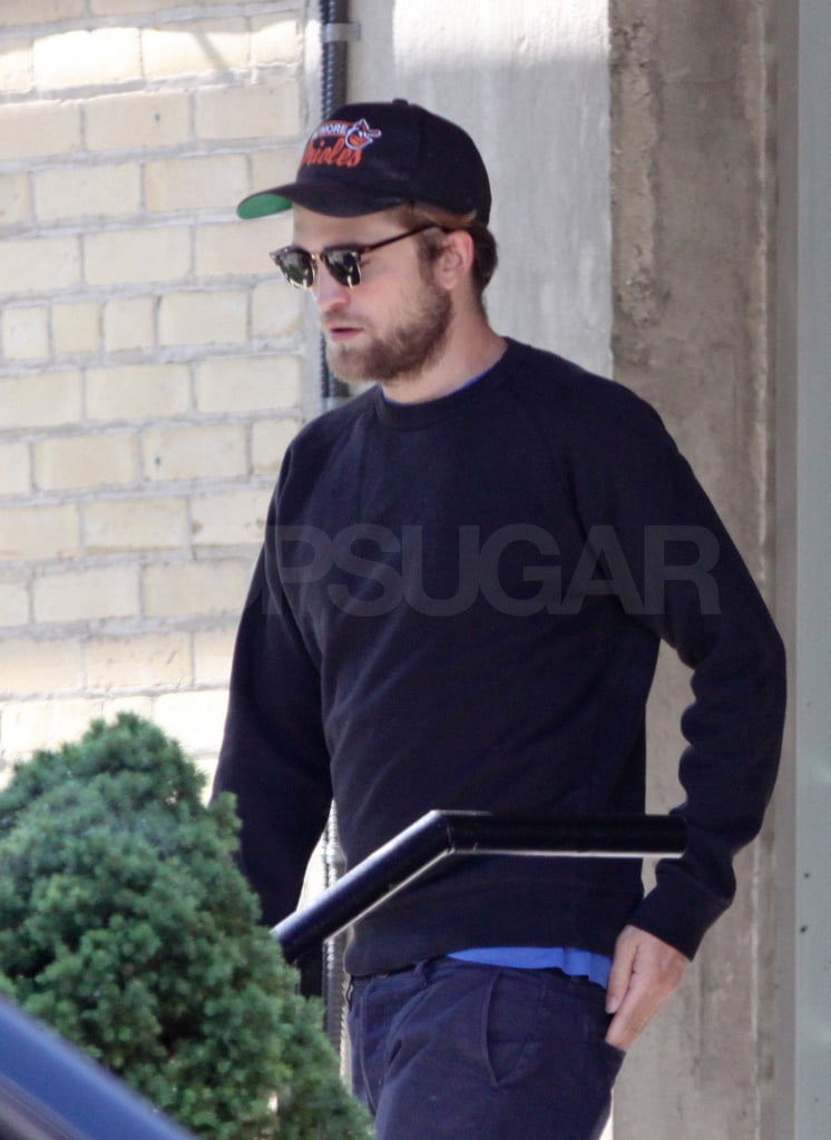 Robert's been working in Canada while Kristen Stewart is filming overseas.
