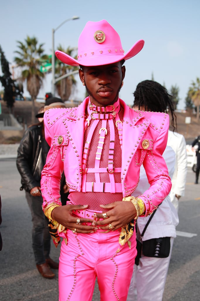 Lil Nas X Wearing Versace at the 2020 Grammys
