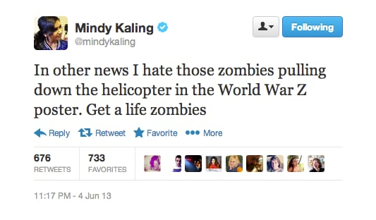 Seriously,  Mindy Kaling has a good point. Don't they have day jobs?