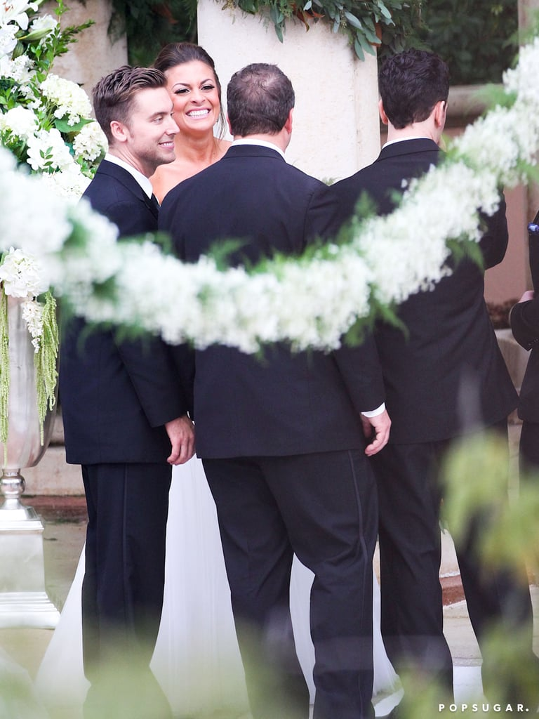 Lance Bass attended Karly Skladany and Chris Kirkpatrick's wedding.