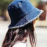 Urban Outfitters Raw Edge Denim Bucket Hat