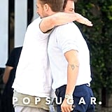 His Casual Man-Hug