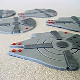 Millennium Falcon and Tie Fighters