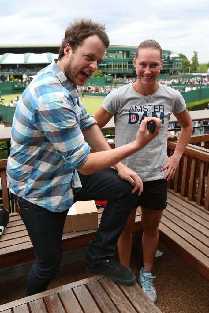 Hamish with Samantha Stosur at Wimbledon in June 2012.