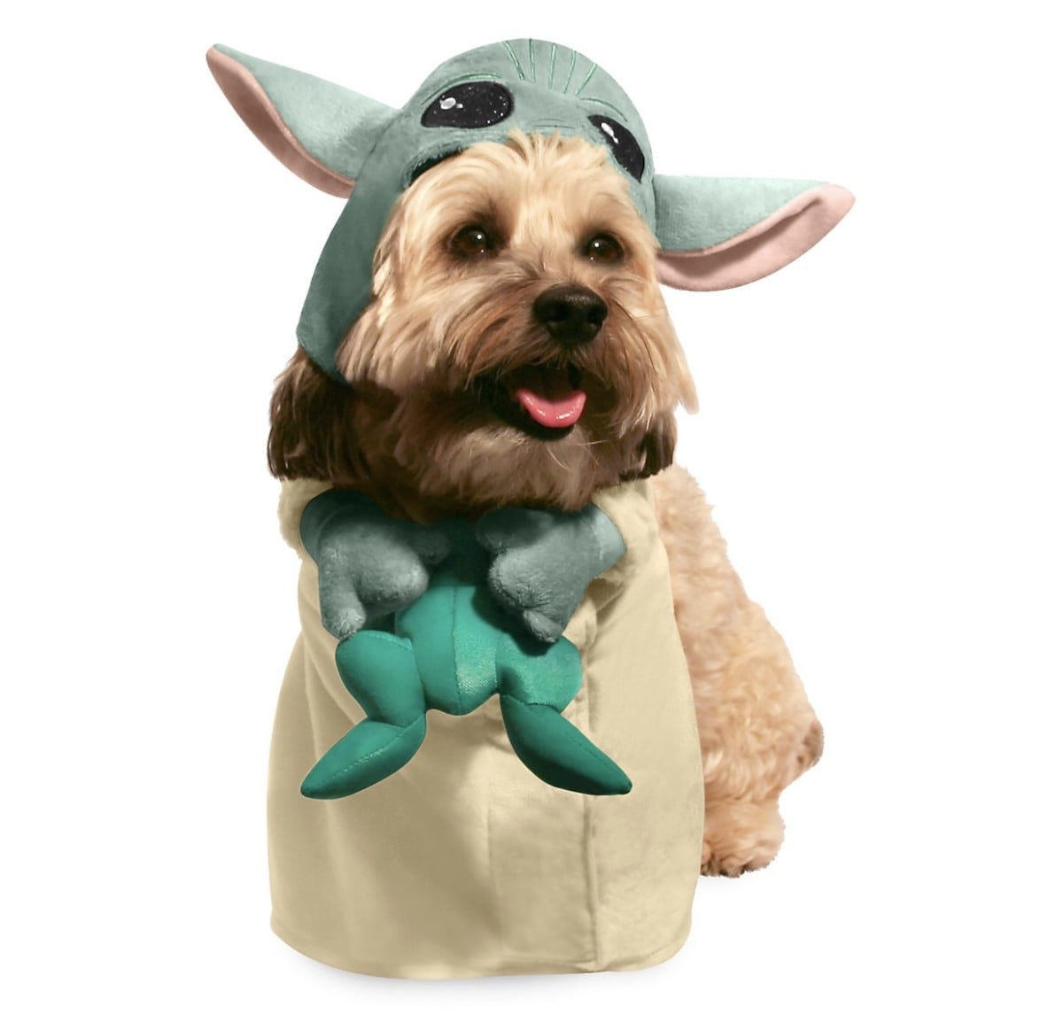 Costume Halloween Yoda.Disney Star Wars The Mandalorian Baby Yoda Pet Costume Popsugar Pets