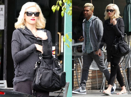 Pictures of Possibly Pregnant Gwen Stefani Getting Lunch in LA With No Doubt Bandmates Tony Kanal and Tom Dumont
