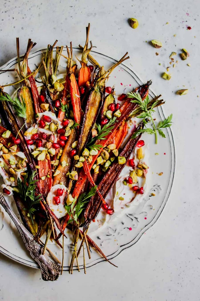 Pomegranate-Glazed Carrots With Whipped Goat Cheese