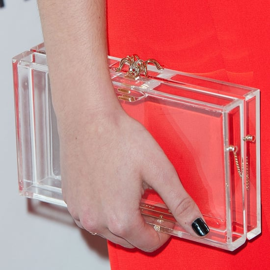 How to Wear a Clear Clutch
