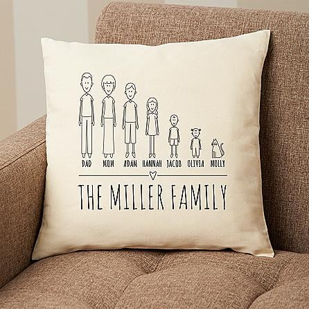 Cast of Characters Family Pillow ($35)