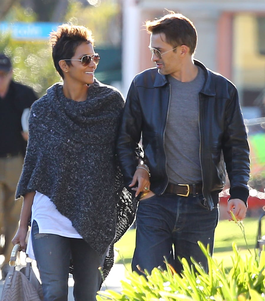 Halle Berry held on to Olivier Martinez during an LA shopping trip in January 2013.