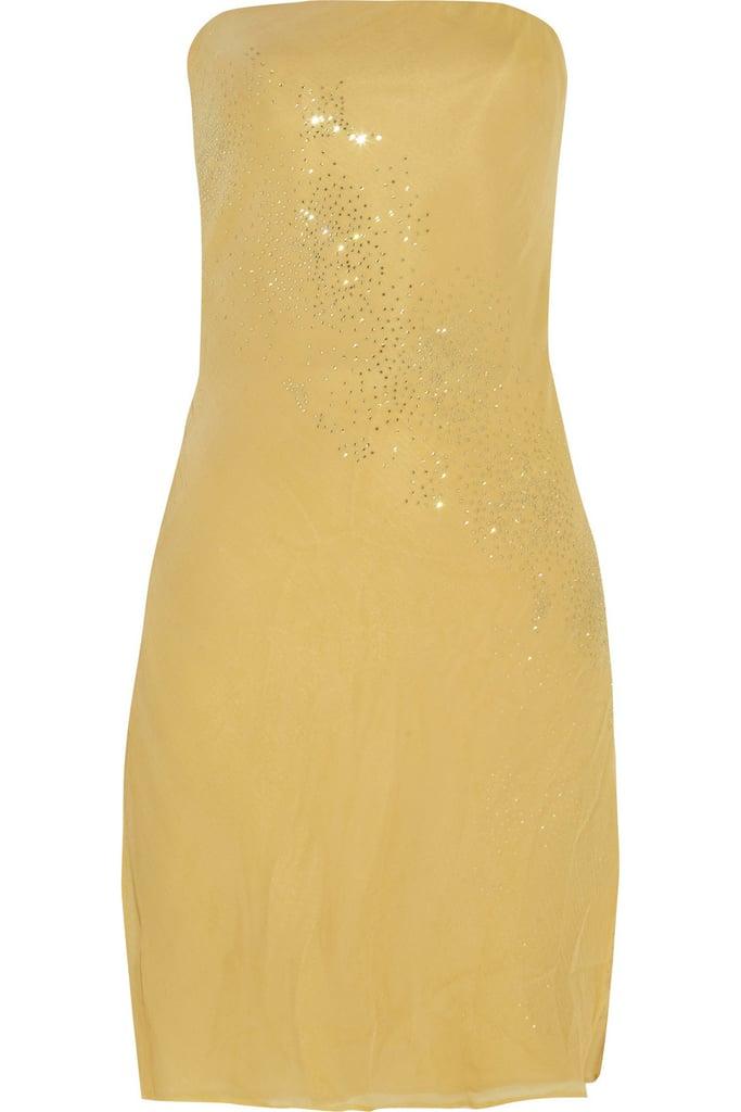 Versace Crystal-Embellished Chiffon Minidress