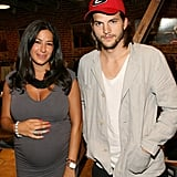 Rebecca Minkoff and Ashton Kutcher posed at her party.