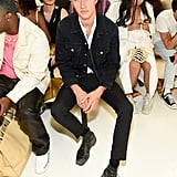 Lucky Blue Smith at the Helmut Lang New York Fashion Week Show