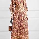 Etro Printed Fil Coupé Silk-Blend Georgette Maxi Dress