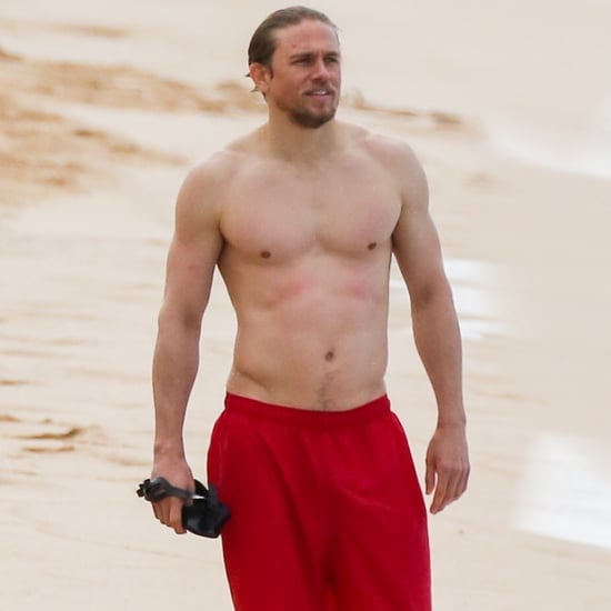 Shirtless Charlie Hunnam in Hawaii Pictures 2018