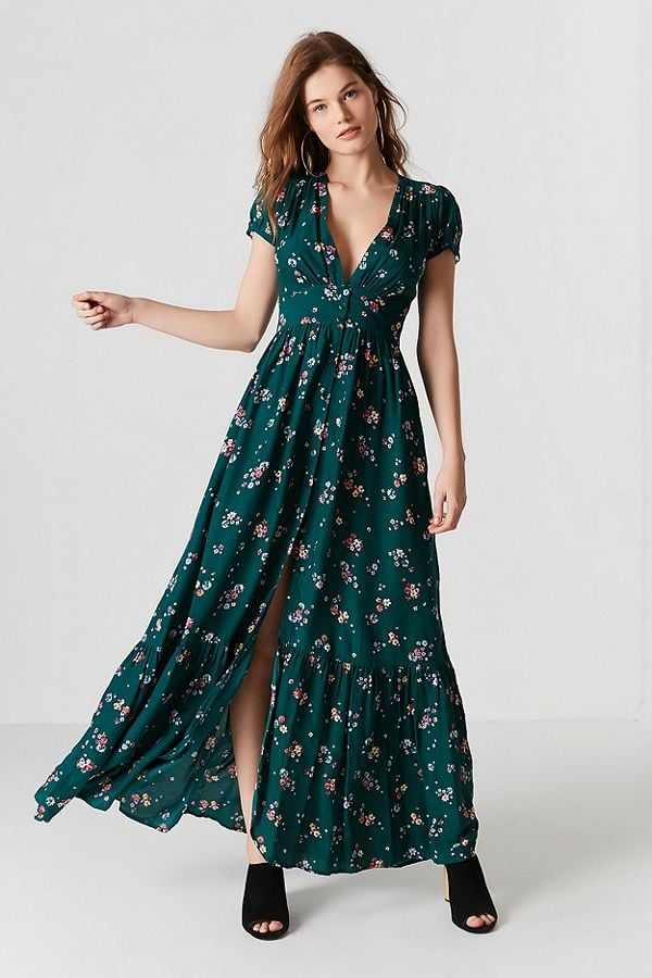 0cd884dc522 Auguste The Label Plunging Button-Down Maxi Dress